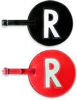 "Initial ""R"" Luggage Tag in Black"