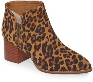 Seychelles Chaparral Leopard Print Block Heel Bootie