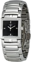 Tissot Women's T-Evocation T051.310.11.051.00 Silver Stainless-Steel Quartz Watch with Black Dial