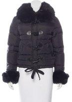 Blumarine Faux Fur -Trimmed Puffer Jacket