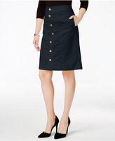 Charter Club Button-Front Corduroy Skirt, Only at Macy's