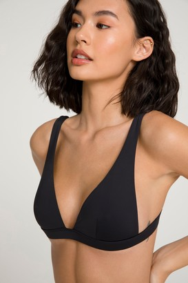 Good American Sexy Boost Bikini Top | Black001