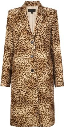 Nili Lotan leopard print single breasted coat