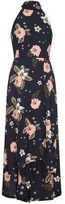 Yumi Floral Dipped Hemline Maxi Dress