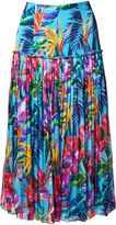 Matthew Williamson Blue Maracas Montage Pleat Skirt