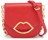 Lulu Guinness Women's Small Smooth Leather Amy Cross Body Bag Coral