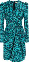 Lanvin Gathered cotton-blend jacquard mini dress
