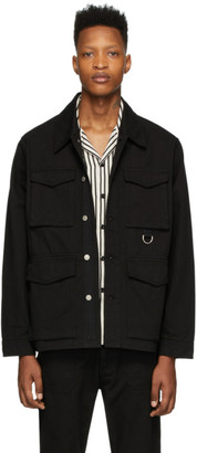 Ami Alexandre Mattiussi Black Gabardine Multi Pocket Jacket