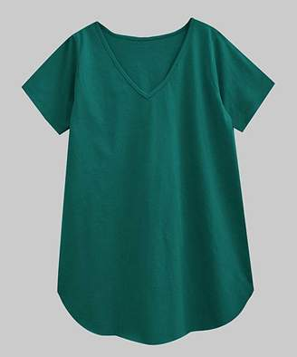 A.T.U.N. Women's Tee Shirts bottle - Bottle Green V-Neck Tee - Women & Plus