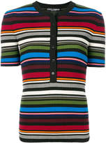 Dolce & Gabbana striped ribbed Henley top