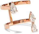 Repossi Serti Sur Vide 18-karat Rose Gold Diamond Ring - 56