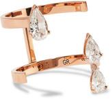 Repossi Serti Sur Vide 18-karat Rose Gold Diamond Ring - 56