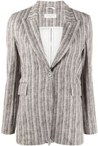 Thumbnail for your product : Circolo 1901 Pinstripe-Print Tailored Blazer