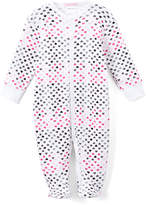 Baby Steps White & Pink Footie Pajama - Infant