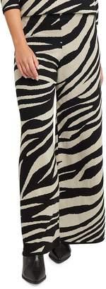NA-KD Na Kd Zebra-Print Cotton-Blend Pants