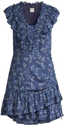 Rebecca Taylor Gaelle Ruffle Mini Dress