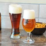 Personalized His and Hers Pilsner Set
