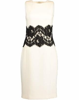 Michael Kors Collection Sleeveless Lace Waist Sheath Dress