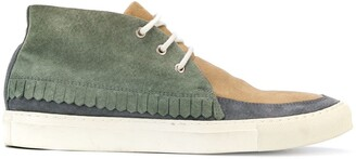 Comme des Garcons Pre-Owned patchwork lace-up sneakers