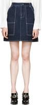 Kenzo Blue Raw Denim Miniskirt