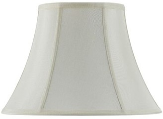 """Cal Lighting Piped 18"""" Fabric Bell Lamp Shade Finish: Eggshell"""