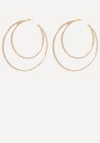 Bebe Crystal 2-Hoop Earrings