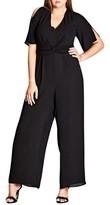 City Chic Plus Size Women's Front Twist Jumpsuit