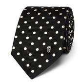 Alexander McQueen 6cm Polka-Dot Woven Silk Tie