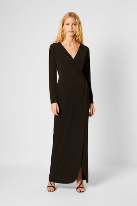 French Connection Slinky Jersey Wrap Maxi Dress