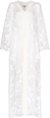 Masterpeace floral devore maxi kimono