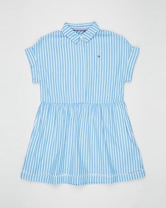Tommy Hilfiger Ladder Lace SS Shirt Dress - Teens