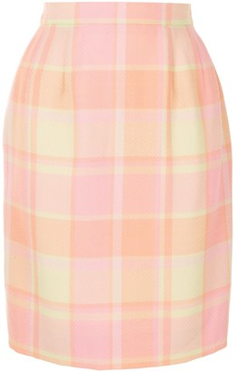 Céline Pre-Owned Pre-Owned Checked Knee-Length Skirt