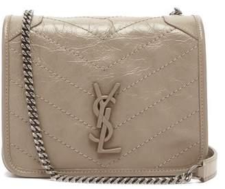 Saint Laurent Niki Mini Leather Cross-body Bag - Womens - Beige