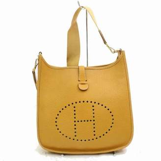 Hermes Evelyne Yellow Leather Handbags