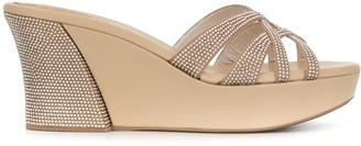Rene Caovilla Crystal Embellished Platform Sandals