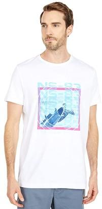 Nautica Short Sleeve Fashion Tee (White) Men's Clothing