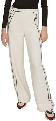Maje Wide-Leg Cotton-Blend Pants