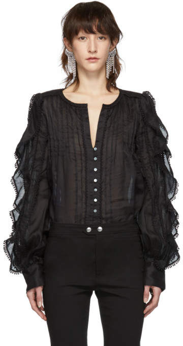 Isabel Marant Black Romney Shirt