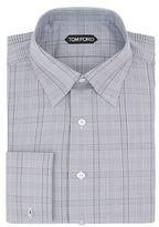 Tom Ford Collar Pin Checked Shirt