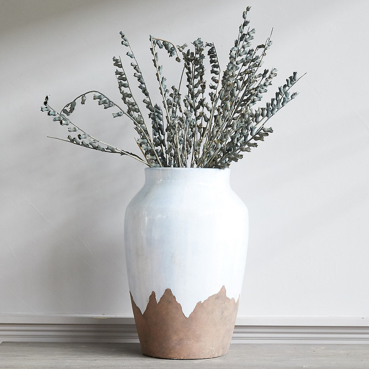 Drip Glaze Clay Branch Vase