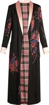Etro Shawl-collar floral-print reversible satin coat