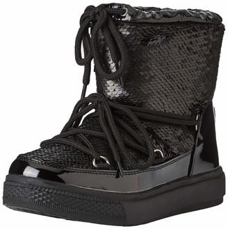Colours of California Women's Stivale Neve Basso in Glitter Snow Boots Black (Black BLA) 6 UK (39 EU)