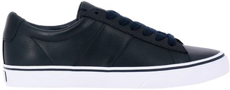 Polo Ralph Lauren Sneakers Sayer Laced Sneakers In Leather With Embroidered Logo