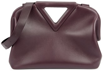 Bottega Veneta The Triangle Plum Leather Clutch