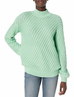 The Fifth Label Women's Giddy Mock Neck Ribbed Knit Fashion Sweater
