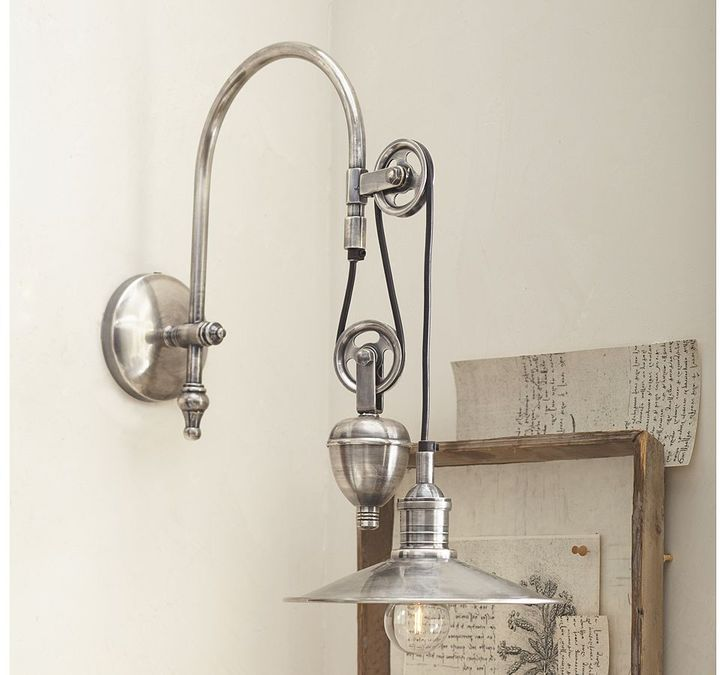 Pottery Barn Packard Pulley Single Sconce