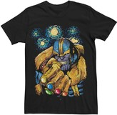 Licensed Character Men's Marvel's Thanos Gauntlet Starry Night Portrait Tee