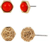 Kenneth Cole New York Citrus Slice Geometric Duo Stud Earring Set