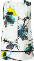 Proenza Schouler sleeveless floral blouse