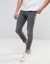 Armani Jeans Skinny Fit Jeans Washed Grey